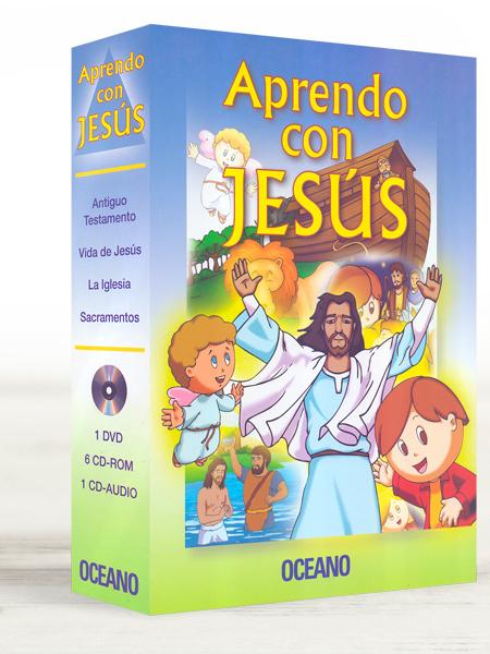 Aprendo con Jesús con un DVD, 6 CD-ROMs y un CD Audio